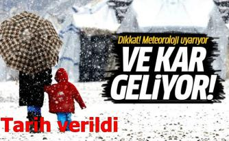 KAR GELİYOR