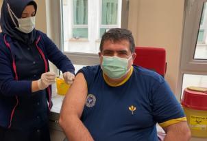 Ordu Tabip Odası Başkanı Coşkun Covıd Aşısı Oldu