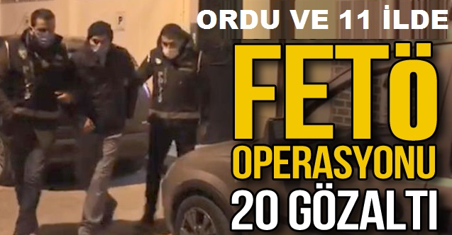 FETÖCU POLİSLERE OPERASYON