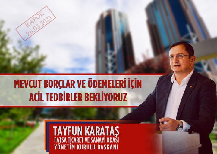 """KARATAŞ """"ACİL TEDBİRLER BEKLİYORUZ"""""""