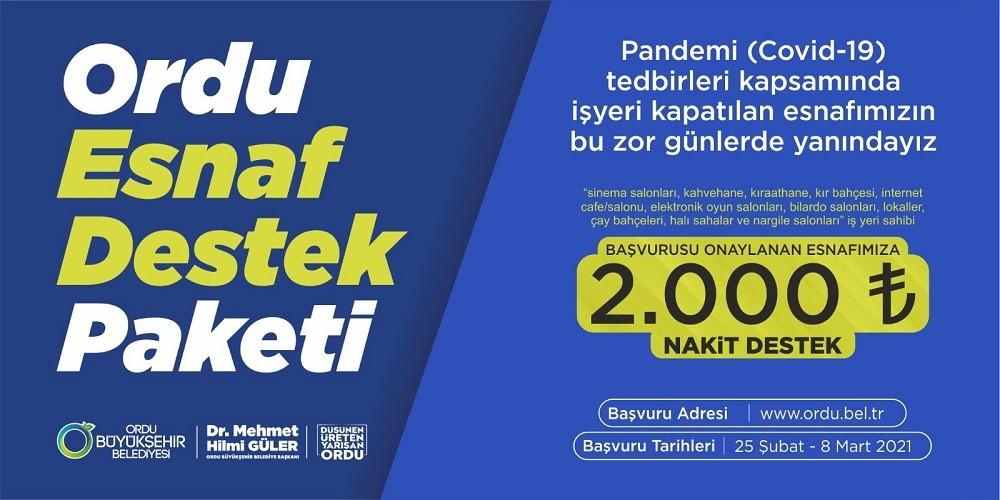 ESNAF DESTEK PROJESİ'NİN BAŞVURULARI BAŞLIYOR