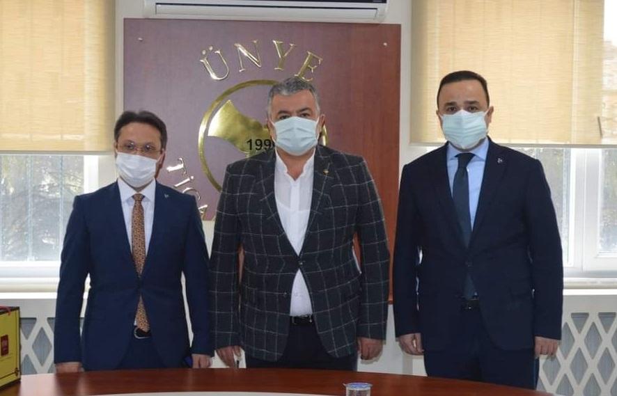 MHP'Lİ BAŞKANLARDAN ÜNYE TİCARET BORSASI'NA ZİYARET