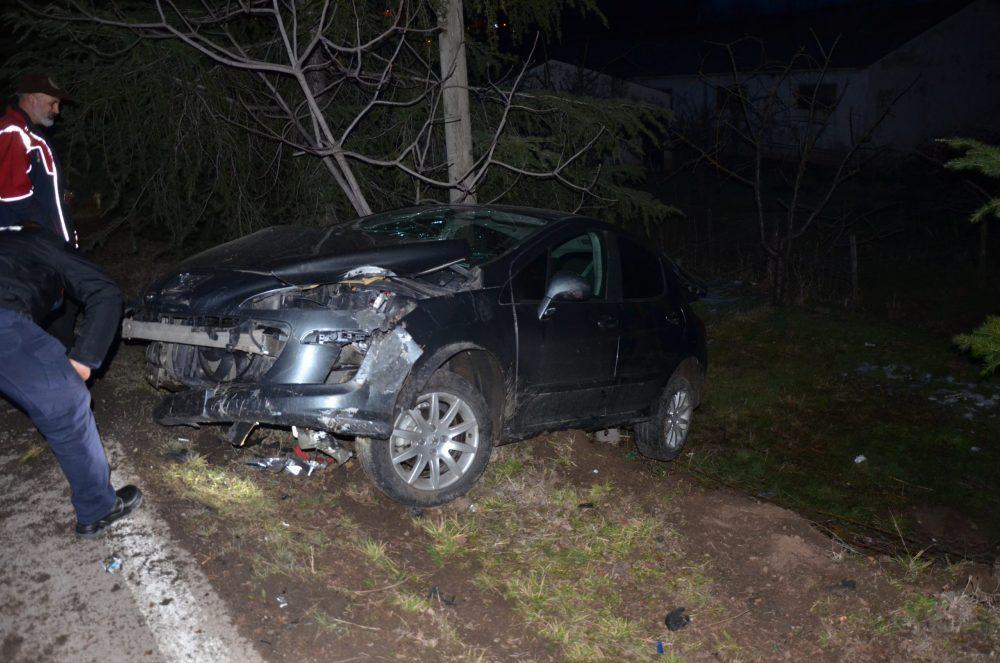 Ünye de meydana gelen kazada iki kişi yaralındı.