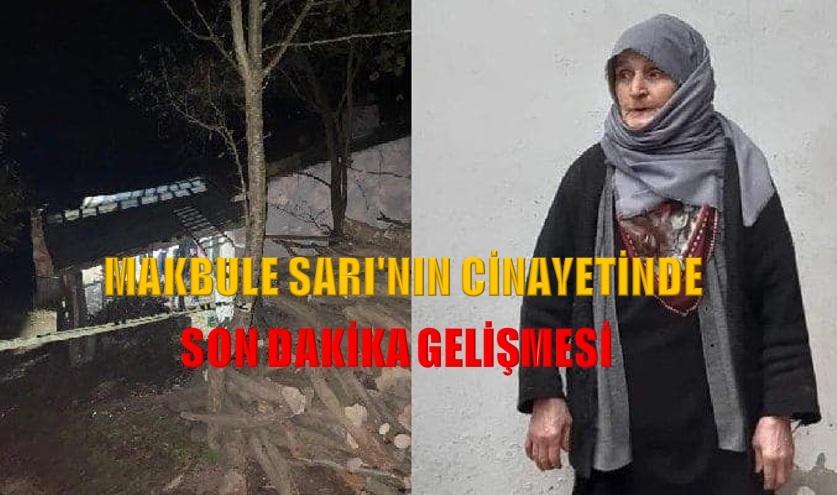 MAKBULE SARI'NIN CİNAYETİNDE SON DAKİKA GELİŞMESİ