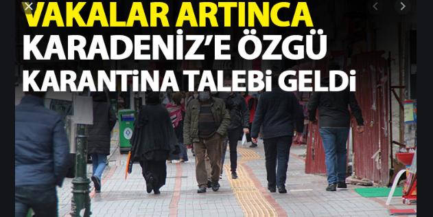 Ordu,Trabzon, Rize, Giresun ve Samsun için Özel Kısıtlama Talebi