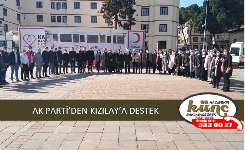 AK PARTİ'DEN KIZILAY'A DESTEK