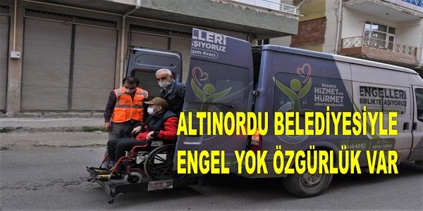 ALTINORDU BELEDİYESİNDEN ÖRNEK HİZMET