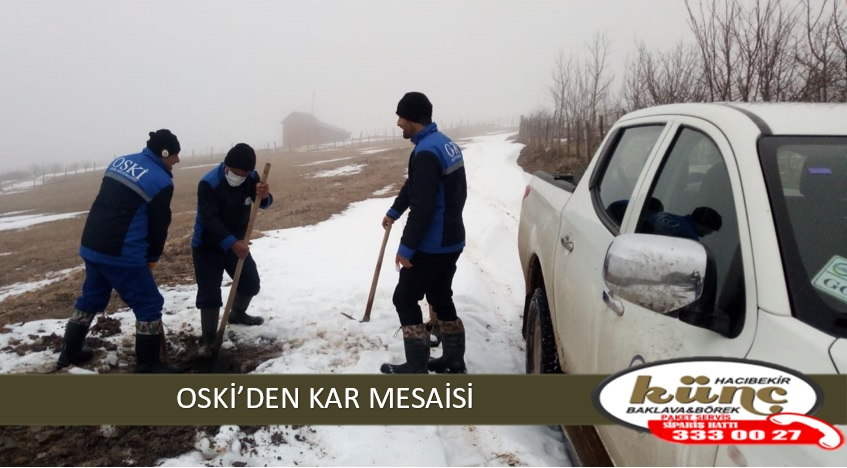 OSKİ'DEN KAR MESAİSİ