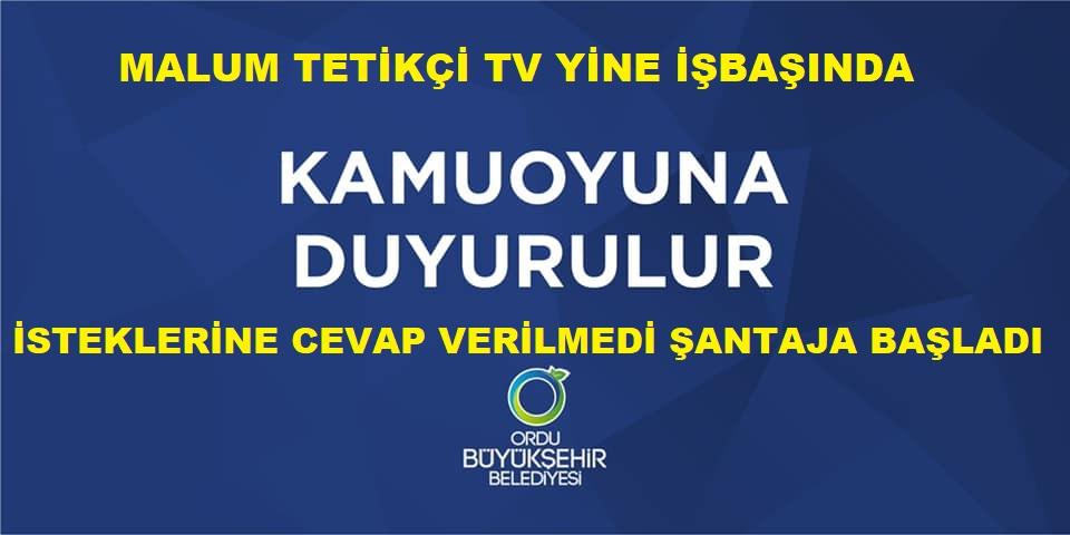 BÜYÜKŞEHİRDEN RANTÇI TV'YE GEÇİT YOK