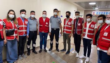 Ünye Genç Kızılay'dan Güvenlik Görevlilerine Ziyaret