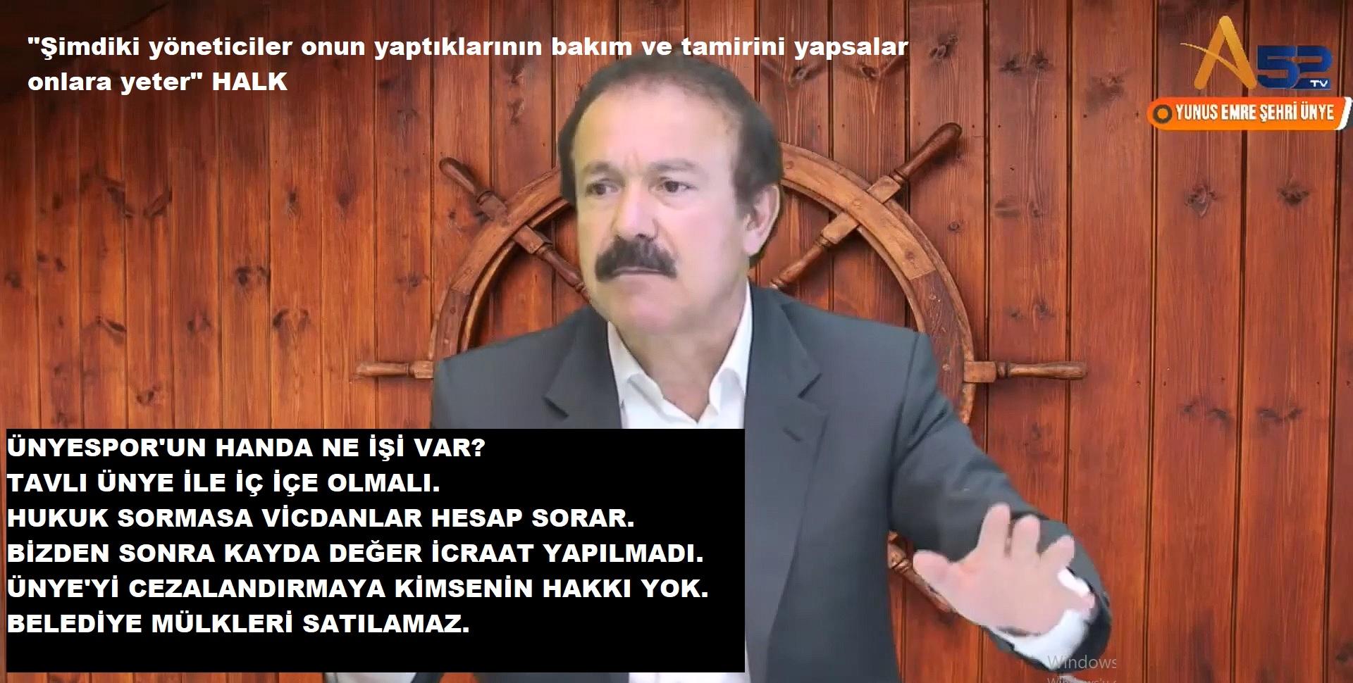 """ARPACIOĞLU """"ÜNYE'NİN 1 METRE YERİNİ SATMADIM"""""""