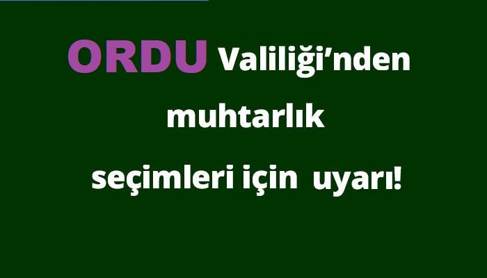 Fatsa, Ünye, Altınordu, İkizce, Çaybaşı, Gölköy ve Perşembe'de Seçim Var