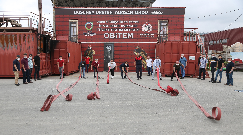 OBİTEM'İN YANGIN EĞİTİMLERİ SÜRÜYOR
