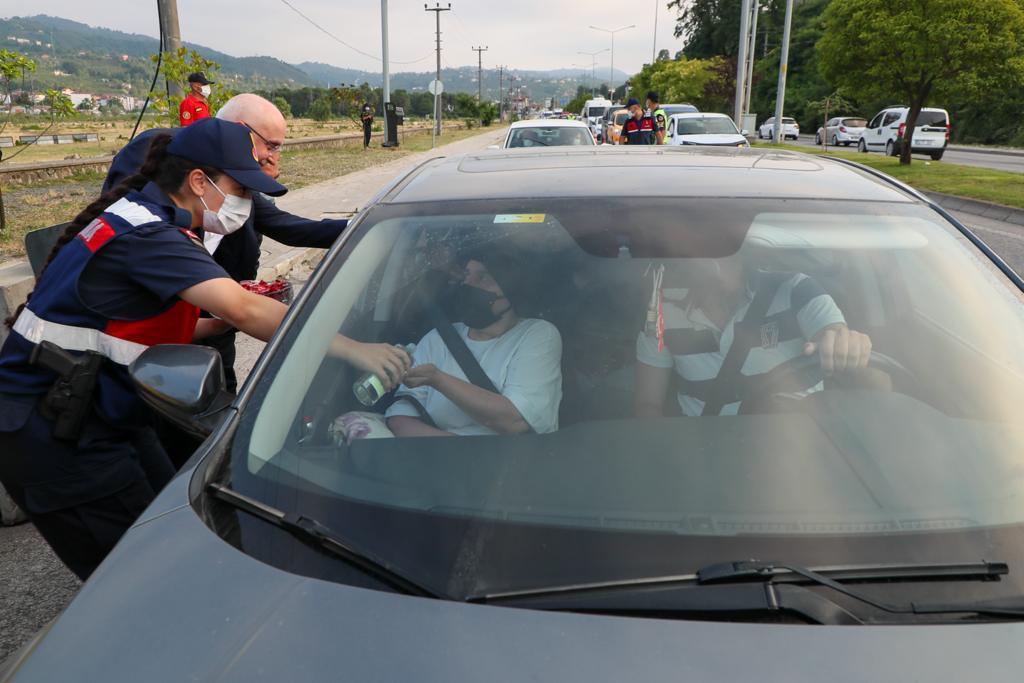 İçişleri Bakan Yardımcısı Erdil, Ordu'da Trafik Denetimine Katıldı