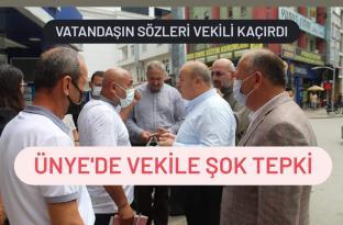 VEKİL TAŞÇI UNYE'DE PROTESTO EDİLDİ