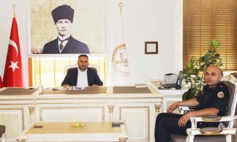MÜFTÜ OKUŞ'A JANDARMA KOMUTANI GÖKHAN'DAN ZİYARET