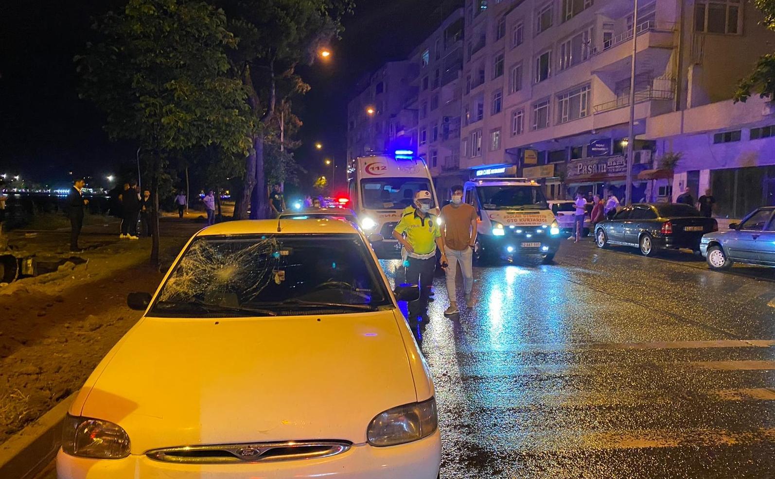 ÜNYE'DE OTOMOBİL YAYA ÇARPTI